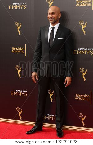 LOS ANGELES - SEP 11:  Keegan-Michael Key at the 2016 Primetime Creative Emmy Awards - Day 2 - Arrivals at the Microsoft Theater on September 11, 2016 in Los Angeles, CA