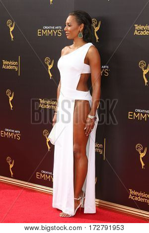 LOS ANGELES - SEP 10:  Mel Brown, Mel B at the 2016 Creative Arts Emmy Awards - Day 1 - Arrivals at the Microsoft Theater on September 10, 2016 in Los Angeles, CA