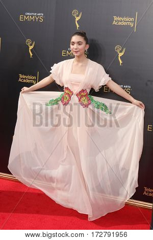 LOS ANGELES - SEP 10:  Rowan Blanchard at the 2016 Creative Arts Emmy Awards - Day 1 - Arrivals at the Microsoft Theater on September 10, 2016 in Los Angeles, CA