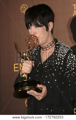 LOS ANGELES - SEP 11:  Diane Warren at the 2016 Primetime Creative Emmy Awards - Day 1 - Press Room at the Microsoft Theater on September 11, 2016 in Los Angeles, CA