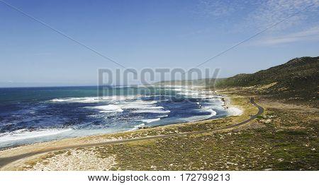 Blue Atlantic Coast, The Cape Of Good Hope, South Africa, Cape Town