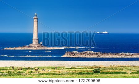 A French lighthouse. Huge lighthouse in the North of France.