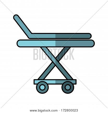 medical stretcher isolated icon vector illustration design