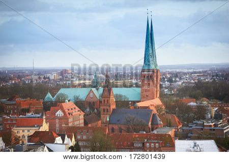 Lubeck city in historical Schleswig-Holstein northern Germany