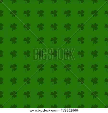 Clover leaves background. St. Patrick day background. Seamless pattern. Vector illustration.