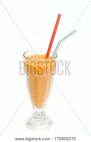 Fruit Cocktail In A Cup With A Straw6