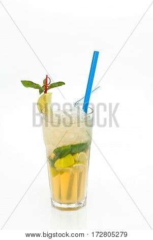 Fruit Cocktail In A Cup With A Straw7