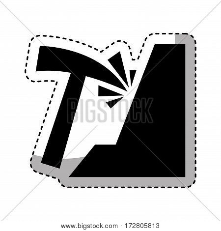 mining pick isolated icon vector illustration design