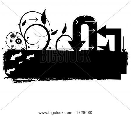 Grunge Arrows Background Illustration