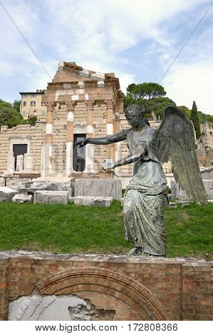 The Winged Venus and the Roman Forum of Brescia - Lombardy - Italy