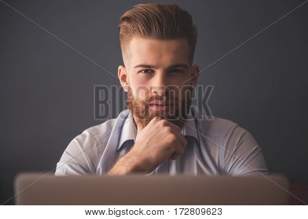 Handsome Bearded Businessman
