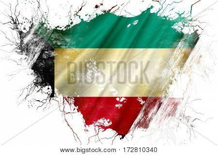 Grunge old Kuwait  flag