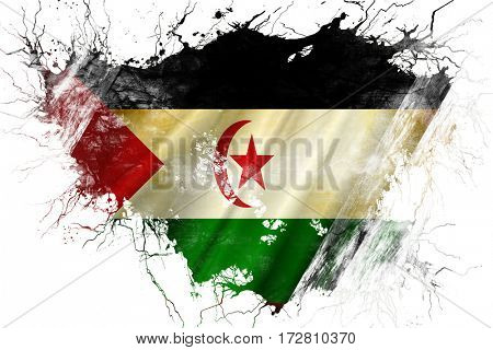 Grunge old Western sahara  flag