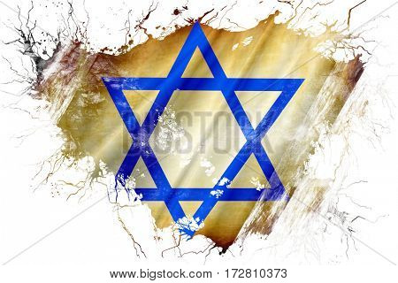 Grunge old Star of David flag