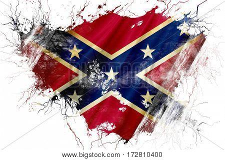 Grunge old Rebel symbol flag
