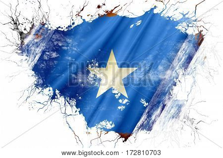 Grunge old Somalia  flag