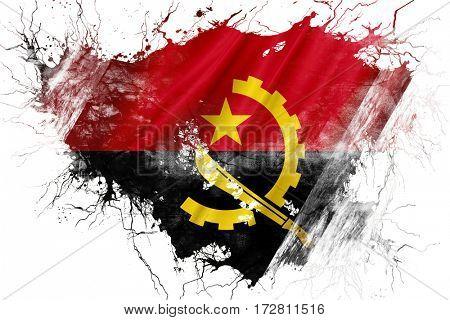 Grunge old Angola  flag
