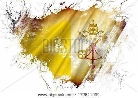Grunge old papal state flag