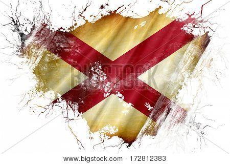 Grunge old alabama flag