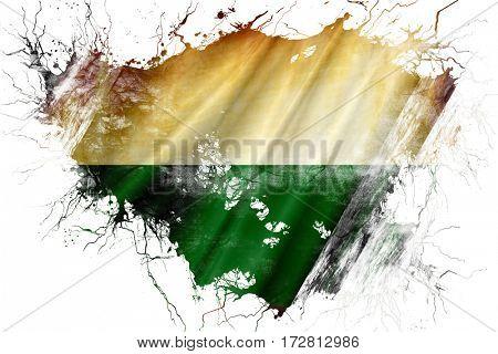 Grunge old Saxony / Sachsen flag