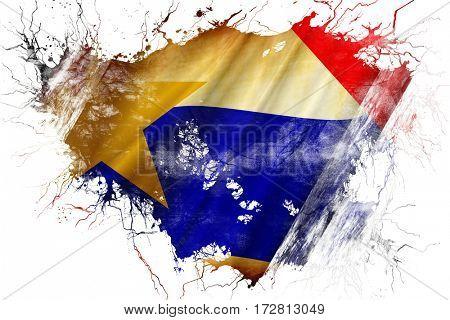 Grunge old Lafayette flag