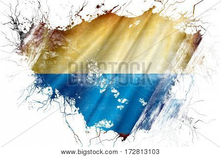 Grunge old Bavaria, bayern flag