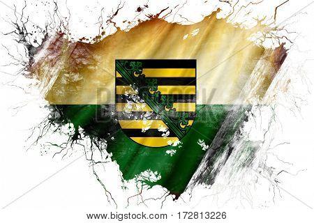 Grunge old Saxony, sachsen flag