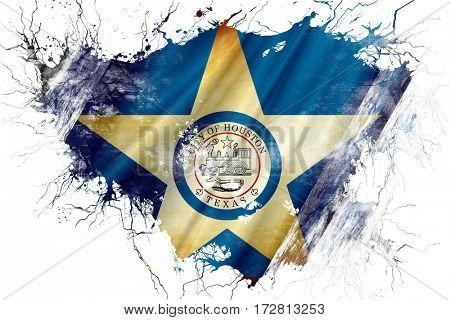 Grunge old Houston flag