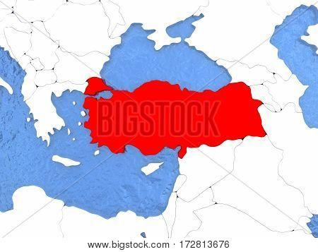 Turkey On Globe