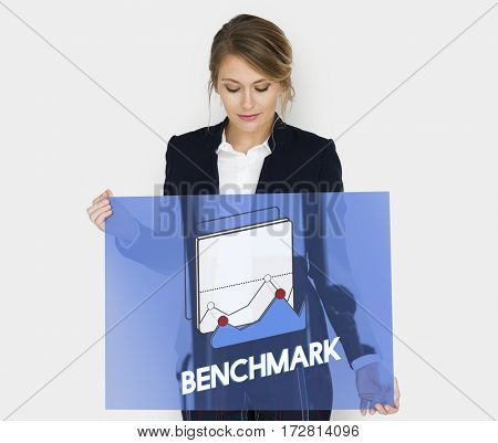 Business woman benchmark growth chart