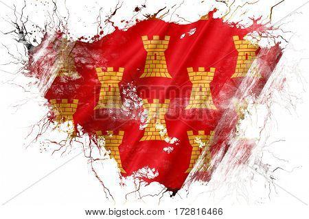 Grunge old Greater Manchester flag