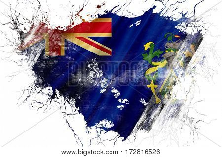 Grunge old Pitcairns islands flag