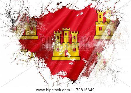 Grunge old Poitou charentes flag