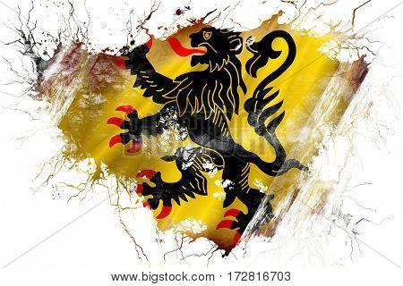 Grunge old Nord pas de calais flag