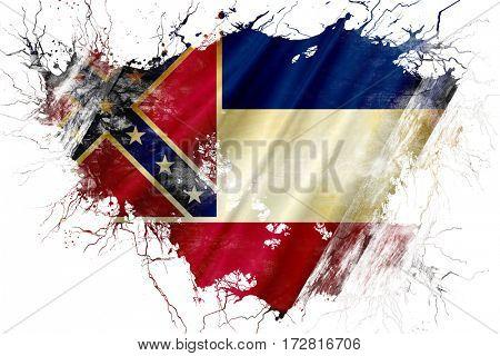 Grunge old mississippi flag