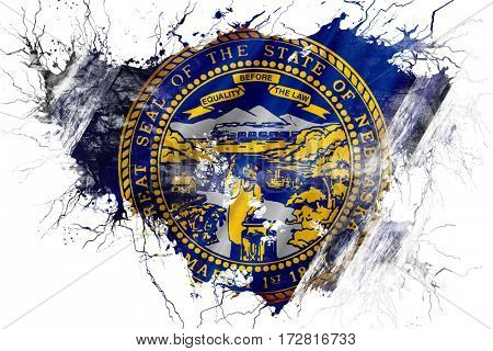 Grunge old nebraska flag