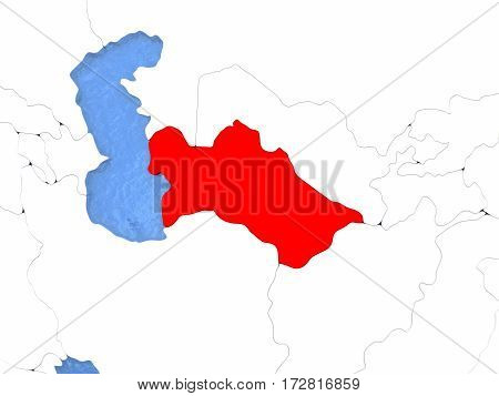 Turkmenistan On Globe