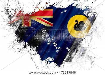Grunge old Western australia flag