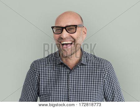Caucasian Man Cheerful Happy Portrait