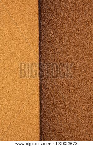 Background texture of desert sand.Top of real sand dune at sunset in Sahara desert Merzouga