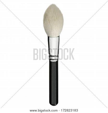 Eyeshadow Brush Isolated White Background. Makeup Brush. Foundation  Powder Brush. Studio Retractabl