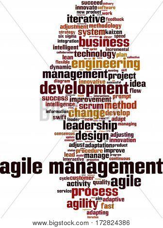 Agile management word cloud concept. Vector illustration