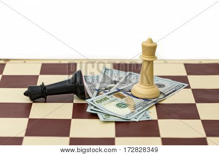 Chess king victory over other king and money