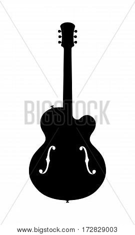 Vector Illustration Of A No Name, No Brand, Imaginary Jazz Guitar Silhouette