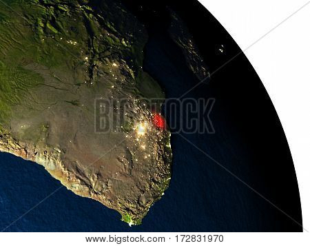 Swaziland From Space