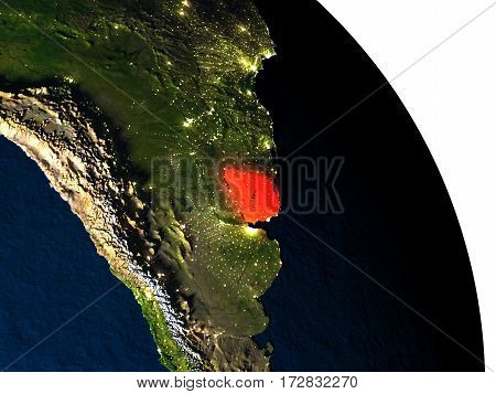 Uruguay From Space