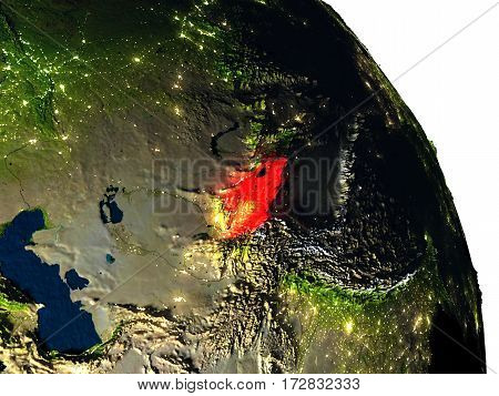 Kyrgyzstan From Space