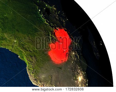 Zambia From Space