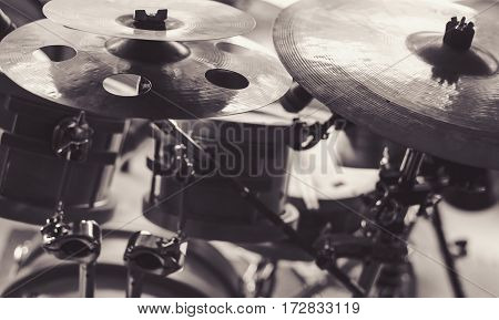 Cymbals Of A Drum Set