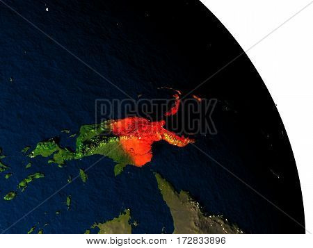 Papua New Guinea From Space
